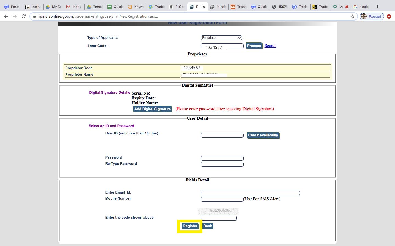 trademark e filing-upload DSC