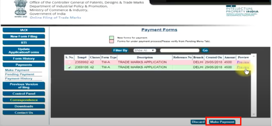 Payment Forms