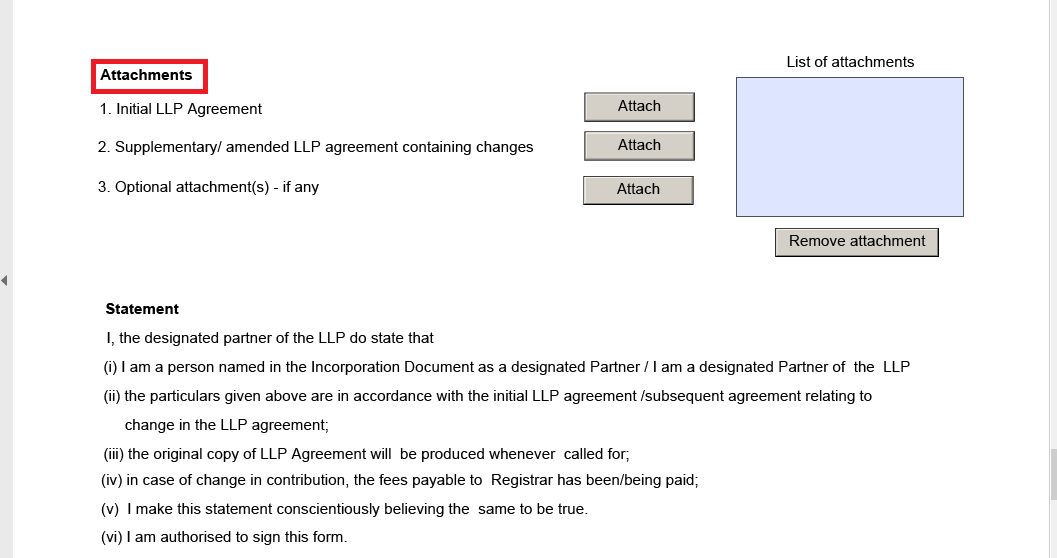 LLP form attachments