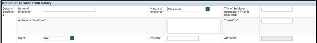 Salary Schedule: Pensioner
