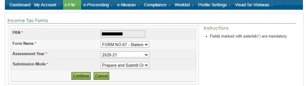 File form 67