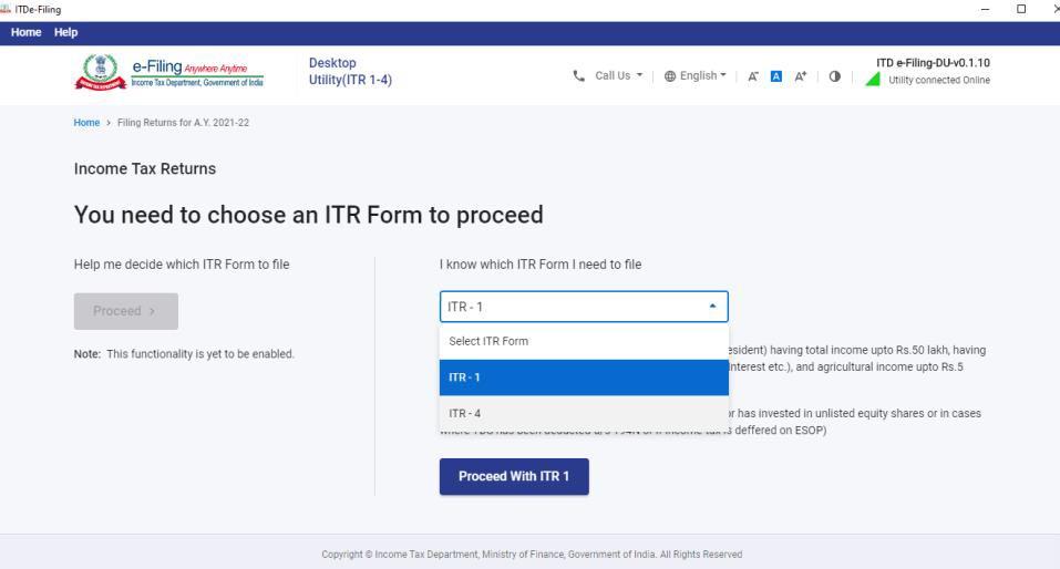 Select ITR1