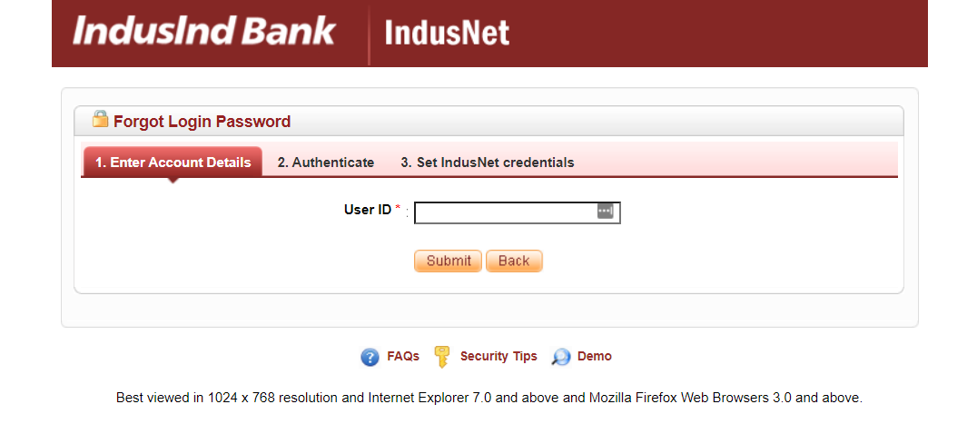 IndusInd-bank-reset-password