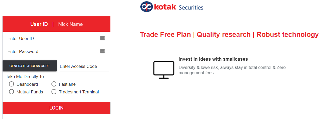 Kotak Securities login