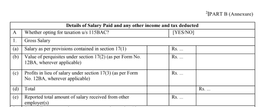 Update Form 16 for FY 2020-21