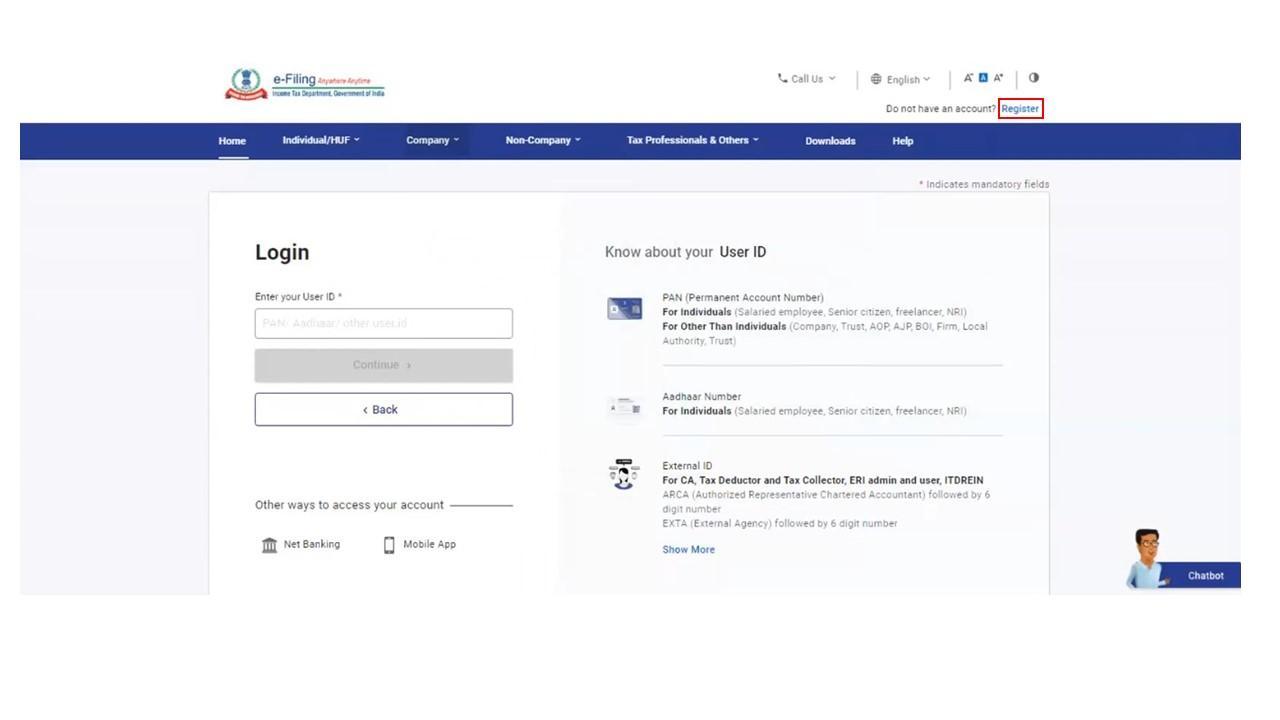 Register Option